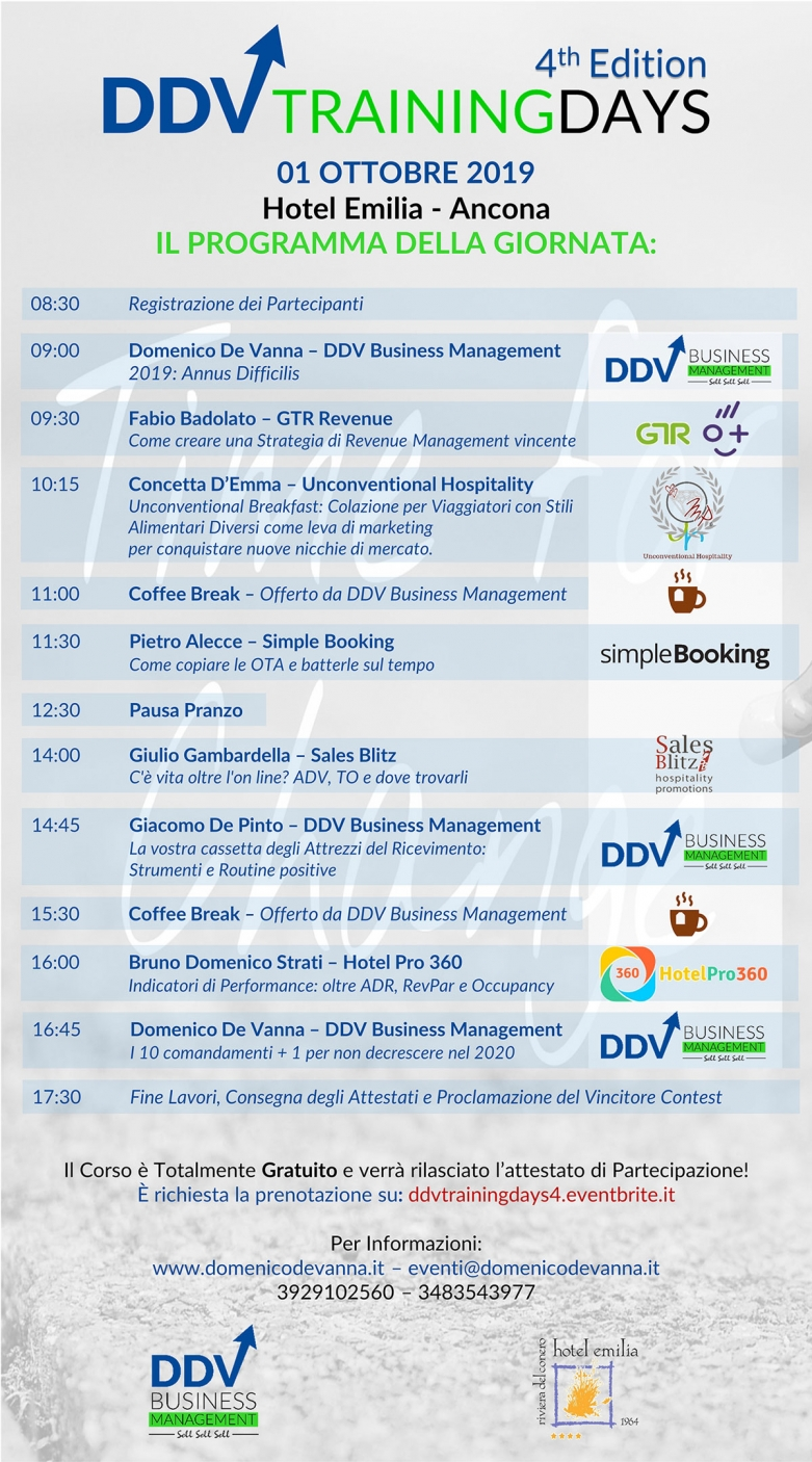 Programma DDV Training Days 4th edition 2019